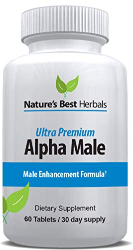 Alpha Male Enhancement Supplement | Increase Stamina, Size, Energy, Endurance | Maximize LIBIDO Includes Ginseng, TONGKAT ALI, Muira PUAMA, Horny Goat Weed & MACA | 60 Tablets/30 Day Supply