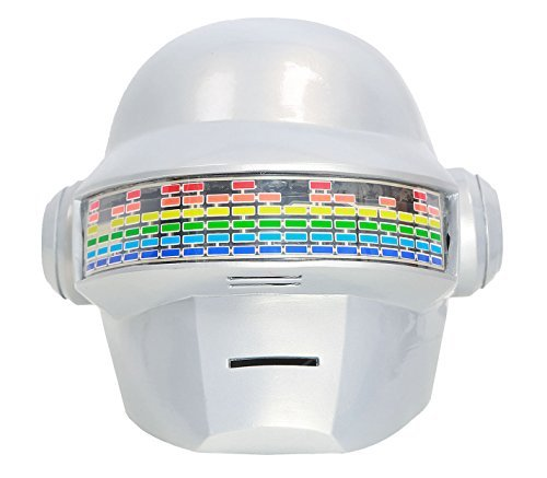 XCOSER Daft Punk Thomas Helmet DJ Mask Props with Led for Adults PVC Classic -