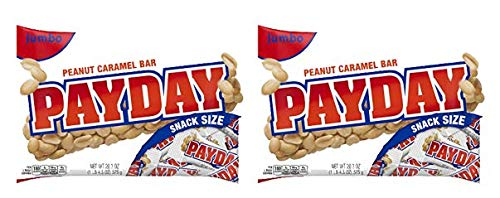 Payday, Peanut Caramel Candy Bars Snack Size, 20.3 Oz (Pack of 2) by Payday, Peanut Caramel Candy Bars Snack Size, 20.3 Oz