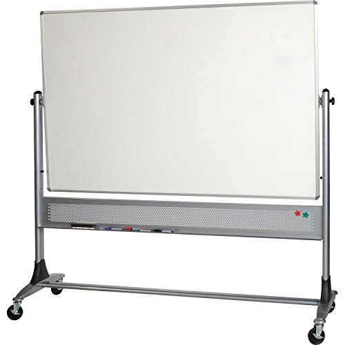 Plus Markerboard (MooreCo 669RH-FF BESTRITE PLATINUM REVERSIBLE MOBILE BOARD PROJECTION PLUS 4HX8W)