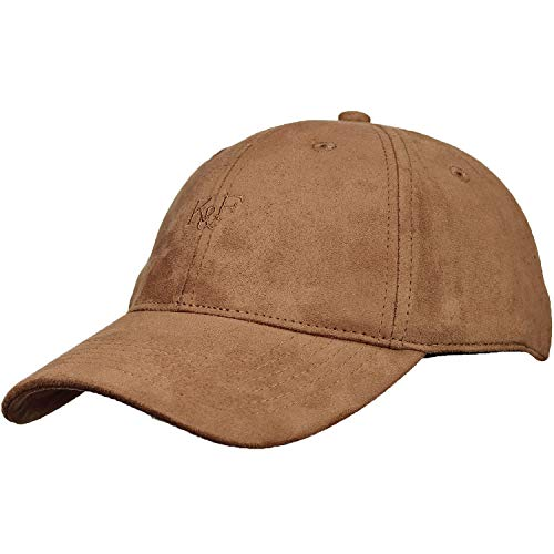 (Baseball Hats for Men & Women by King & Fifth | Baseball Hat with Low Profile & Stylish Fabric + Baseball Caps + Tan Suede Baseball Cap)