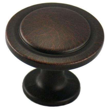 Cosmas 5560ORB Oil Rubbed Bronze Cabinet Hardware Round Knob   1 1/4u0026quot;