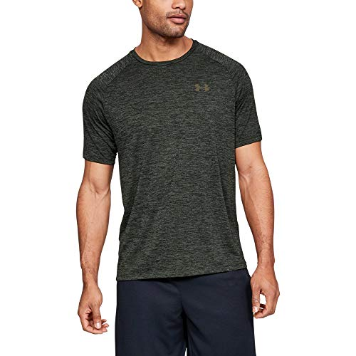 UNDER ARMOUR mens Tech 2.0 Short Sleeve T-Shirt, Baroque Green (310)/Outpost Green, XX-Large