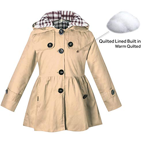 BINPAW-Girls-Hooded-Trench-Coat
