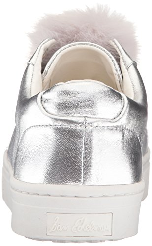 Soft Leather Silver Sam Edelman Leya Women's Sneakers Metallic wxqwI0pUF