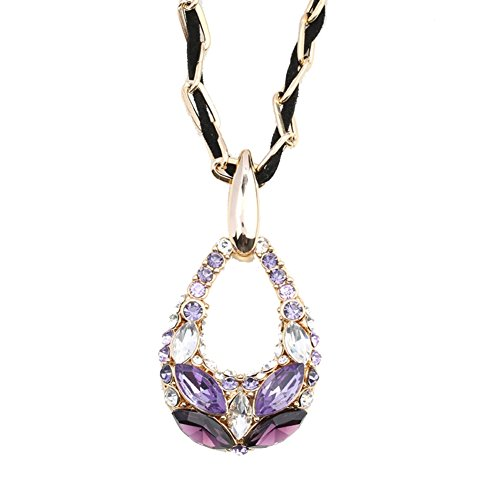 NL-12009C4 2016 Alloy Fashion Pear Inlaid Crystal Women's Necklace