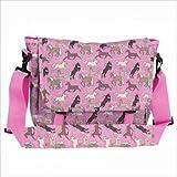 : Wildkin Horses in Pink Messenger Bag - Horses in Pink