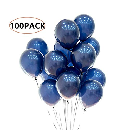 Navy Blue Balloons 100 pcs Party Balloons for Celebration Festival Party Wedding Baby Shower Decorations (10 inch) -