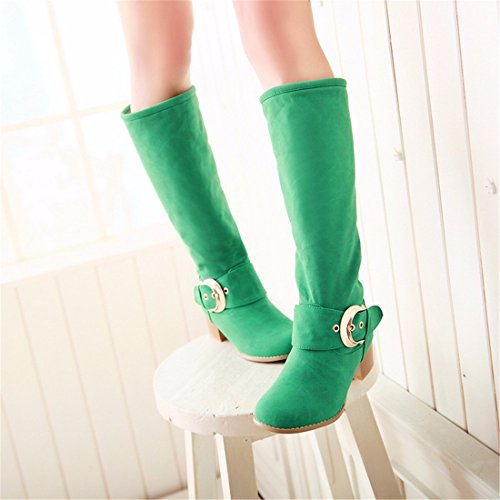 candy color size green Winter boots high boots tube OqTnSw