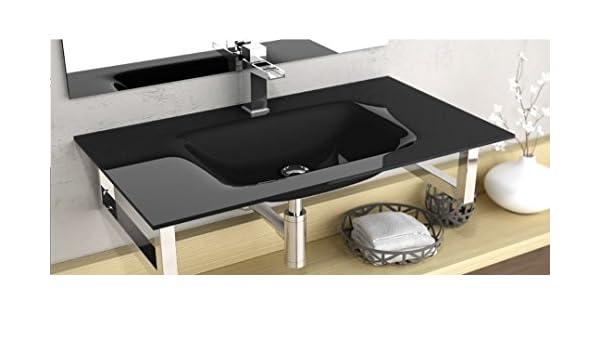 NO INCLUYE MUEBLE LAVABO SOBRE MUEBLE ART/&BATH CRISTAL FLOAT PINTADO NEGRO 1010x460 NO INCLUYE ESTRUCTURA SOPORTE