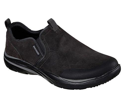 Skechers 65236 Mens Corven - Venson Shoe Relaxed Fit, Nero - 9.5