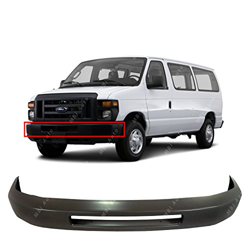 - MBI AUTO - Primered Steel, Front Bumper Face Bar for 2008-2016 Ford Econoline Van, FO1002409