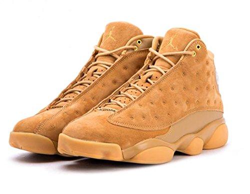Jordan Air 13 Retro Wheat casual shoes mens elemental gold/baroque brown New 414571-705 - 9.5 by Jordan