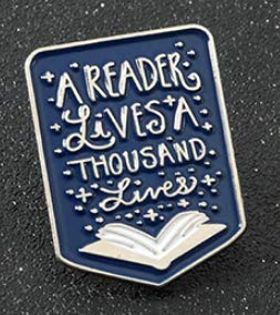 Books Brooch Pin Silver Book Reader Metal Badge For Teacher Student Book Lover Enamel Pin Button Literature Jewelry Shipped from USA
