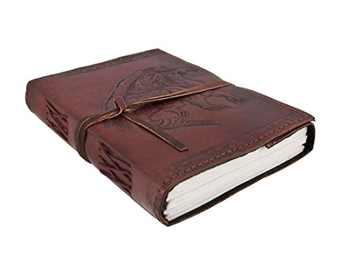 Dragon Leather - Embossed Dragon Leather Journal, Leather Journal for Men and Woman with Leather Cord, (Size 3.5 by 5 Inches)