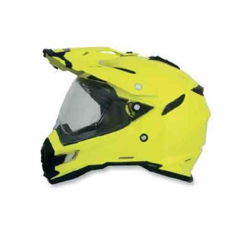 AFX FX-41DS Solid Helmet , Gender: Mens/Unisex, Helmet Type: Offroad Helmets, Helmet Category: Offroad, Distinct Name: Hi-Vis Yellow, Primary Color: Yellow, Size: XL 0110-3776