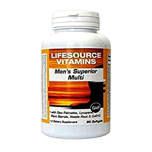 LifeSource Vitamins Mens Superior Multi Vitamin – 90 softgels Specifically for Men over 40