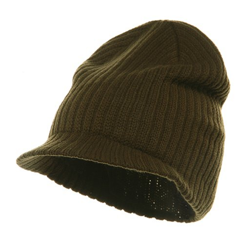 - Striped Campus Jeep Cap - Olive