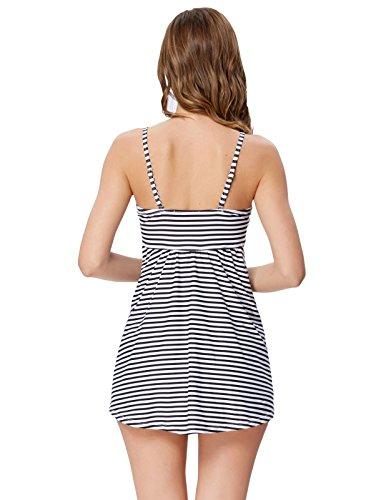Costumi Nere Bikini Estate Tankini Zexxxy Due da bagno Pezzi Donna Strisce RqwFdp