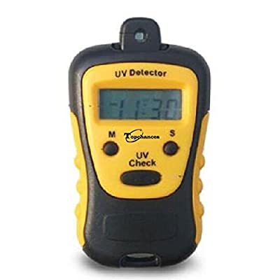 TOPCHANCES High Precision UV Strength Tester UV Meter Photometer UV Detector Handheld LCD Light 1000U W/CM2 Widely Used in School Family UV Strength Tester