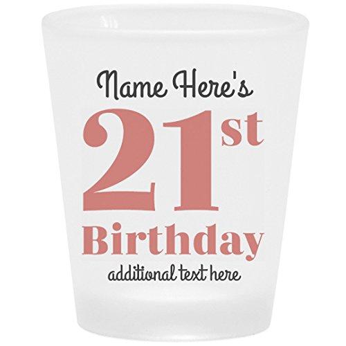 21st Custom Birthday Shot Glass: Frosted Shot