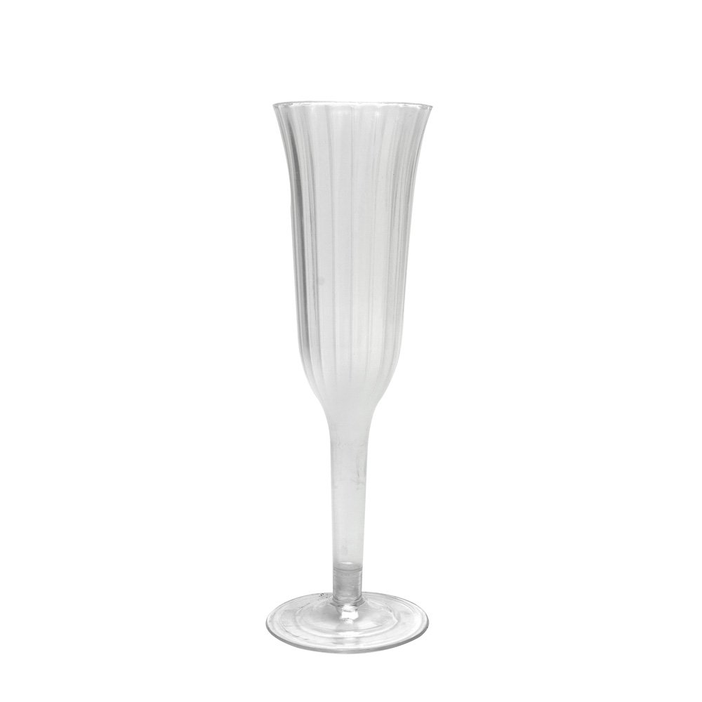 Topenca Supplies Party Plastic Champagne Flutes 6oz Apple Green Set of 6 Ideal for Parties