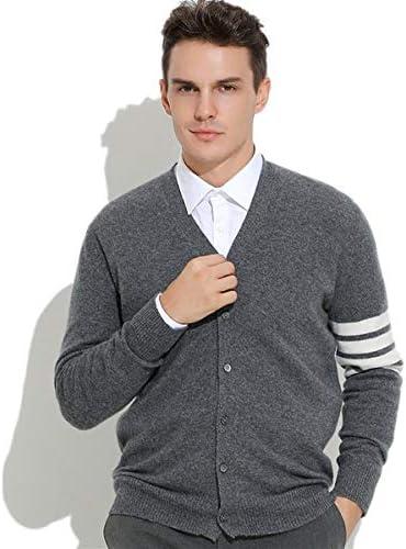 カシミヤ セーター メンズ カシミア100% カーディガン ニットセーター 冬服 春着 紳士 ビジネス カジュアル インナー Vネック スリム フィット 通勤 高校生 大学生 メンズセーター