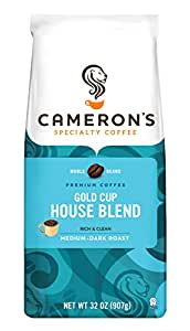 Cameron's Gold Cup Whole Bean Coffee, House Blend, 32 Ounce Bag (packaging may vary)