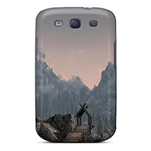 Anti-Scratch Hard Phone Cover For Samsung Galaxy S3 (xxF19629duWt) Unique Design Attractive Skyrim The Whiterun Mountains Pattern