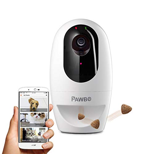 Pawbo+ Wireless Interactive Pet Camera - HD Wifi Dog Camera with Treat  Dispenser - Laser Pointer Game for Cat and Dog - Two Way-Talk - Remotely  via