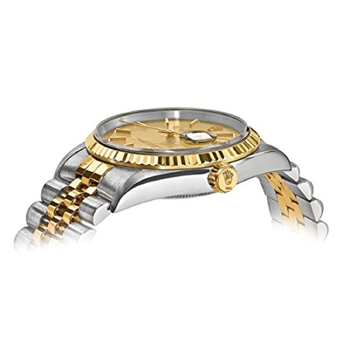 Rolex DateJust Men's 18K Yellow Gold and Stainless Steel Champagne Dial Certified Pre Owned by Roxx Fine Jewelry (Image #2)