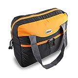 GOX Premium Foldable tote Bag, Duffel Bag For Travel, Multipurpose Daypack (Black/Tangerine)