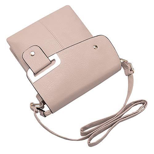 GLITZALL Bag pequeño Messenger de la de bandolera escuela Bolso Rosa cuero bolso Messenger 1qxHpf1w
