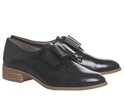 Slip Bow Leather Office Flexa Flats On Black Groucho t5gFTxqwF