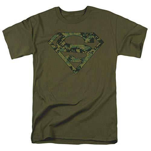 Popfunk Superman Marine Camo Logo DC Comics T Shirt (Medium)
