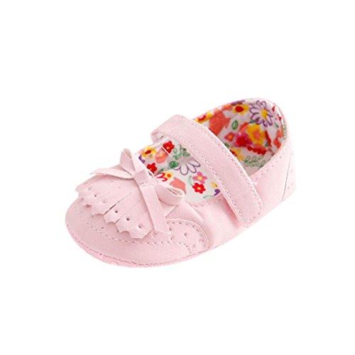 BZLine® Baby gestickte Baby-Schuhe weiche alleinige Schuhe Pink