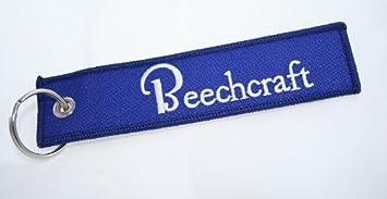 Wooden Piloto Aviación clave cadena - Beechcraft - Tejido de ...