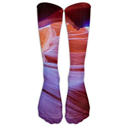 Xiuzhizhang Antelope Canyon Athletic Tube Stockings Women Men Classics Knee High Socks Sport Long Sock One Size