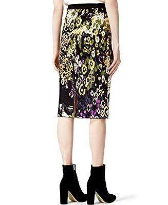 RACHEL Rachel Roy Womens Jacquard Printed Pencil Skirt