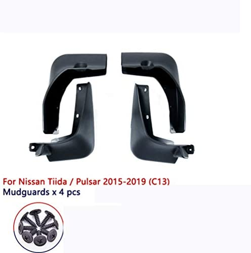 4Pcs Auto Schutzbleche Kotflügel, für Nissan Pulsar Tiida C13 2015 2016 2017 2018 2019 Front Rear Mud Flaps Mudguards Spritzschutzbleche Guards Schutz, Car Styling Zubehör