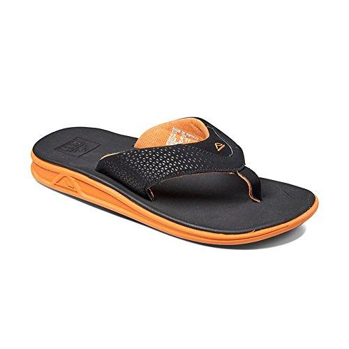 Reef Rover, Sandalias Flip-Flop para Hombre Varios colores (Black / Orange)