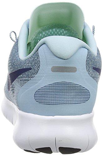 Nike Damen Free RN 2017 Laufschuhe Blau (Ocean Bliss/navy/glacier Blue/ 405)