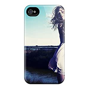 For Iphone 4/4s Tpu Phone Case Cover(blonde Dress Field Model Night)