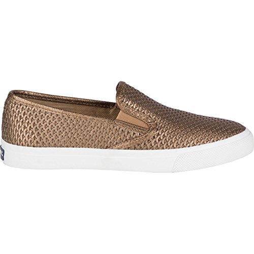 Sperry Mujeres Seaside Scale Metallic Leather Sneaker Bronce