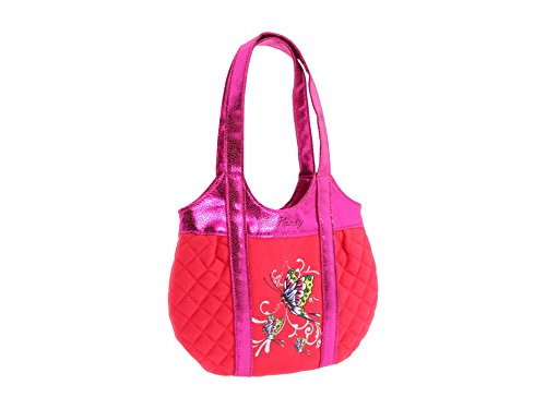 Ed Hardy Girls Allison Quilted Tote - Orange Ed Hardy Womens Bags