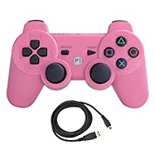 Bowink Wireless Bluetooth Controller For PS3 Double Shock (Pink)