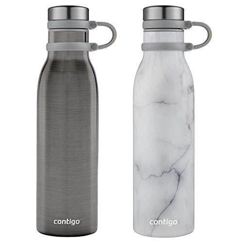 Water Pyramid Bottle - Couture THERMALOCK Vacuum-Insulated Stainless Steel Water Bottle, 20 ounces 2 Pack  2 Colors