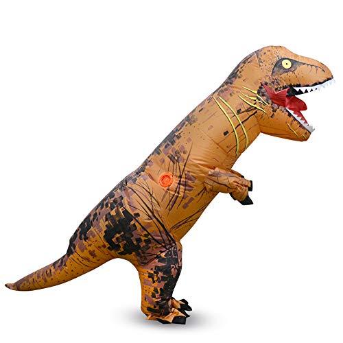 MIMI KING Jurassic World T-Rex Inflatable Costume, Halloween Dinosaur Dress Up Funny Cosplay, Child Size