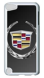 iPod 5 cases, iPod Touch 5 cases, Fashion Cadillac Car Logo 4 Pattern Bumper Protection [Heavy Drop Protection] Ultra Slim Hard White PC Snap-on Back Shell Protective Skin Case Cover For IPod Touch5 5th
