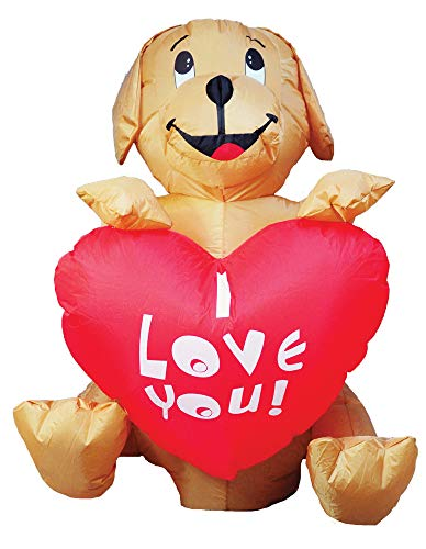 Morris Inflatable Dog with Heart Decoration